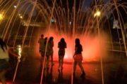 Group of Women walking through Magical Water Circuit Park