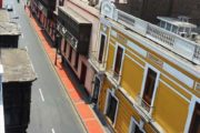 Rooftop view of empty street in Lima