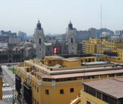 Rooftop view of the city of Lima