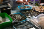 Seafood and Fish at local market in Lima