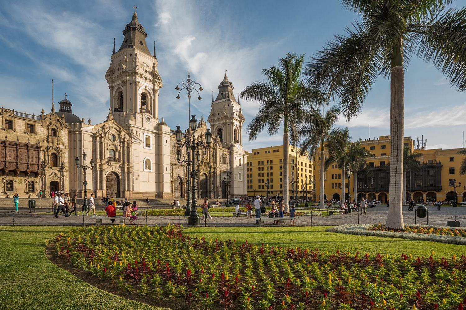 View of archbishop's palace of Lima