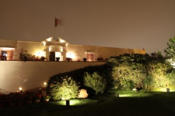 Museo Larco at night in Lima