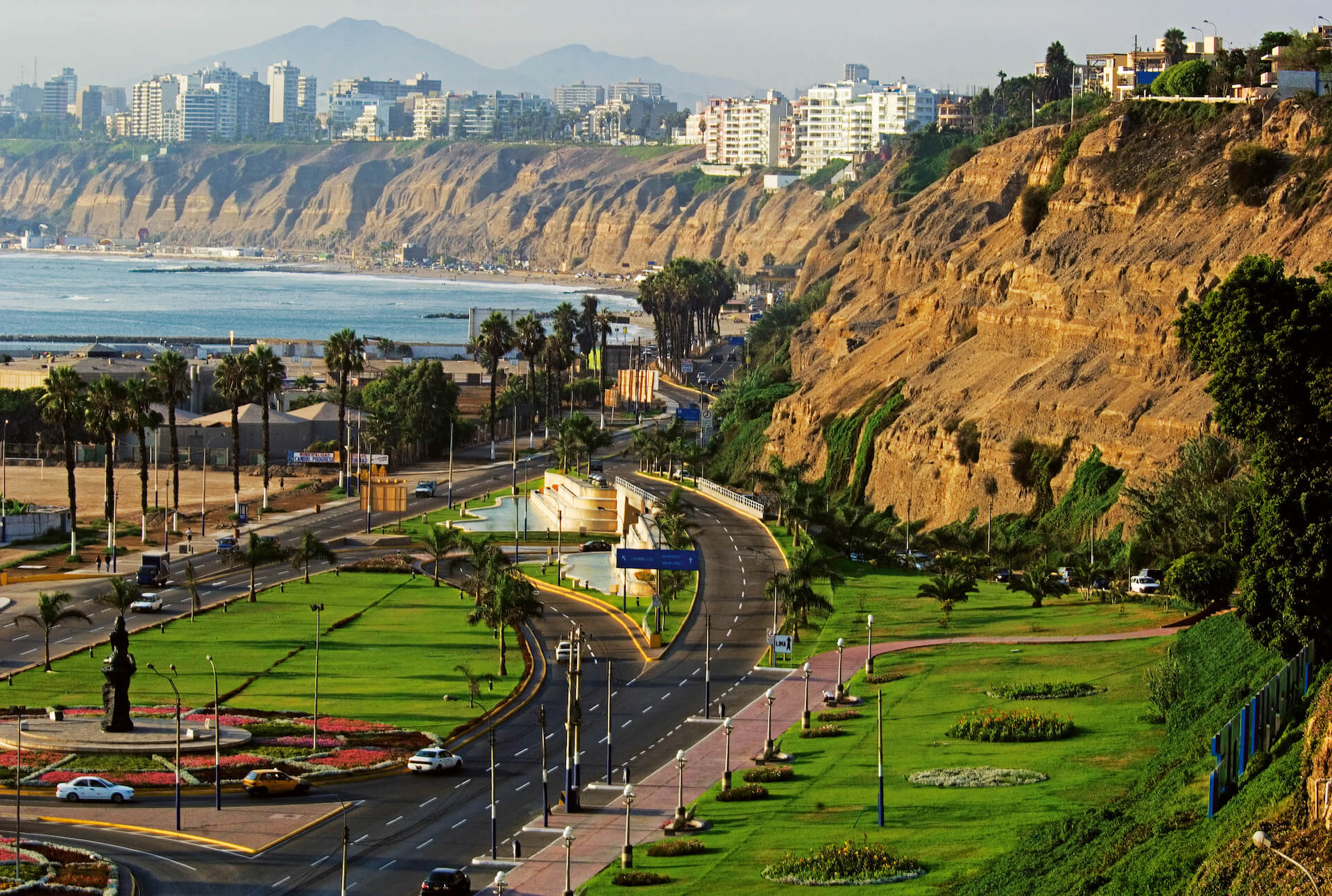 View of Costa Verde in Lima