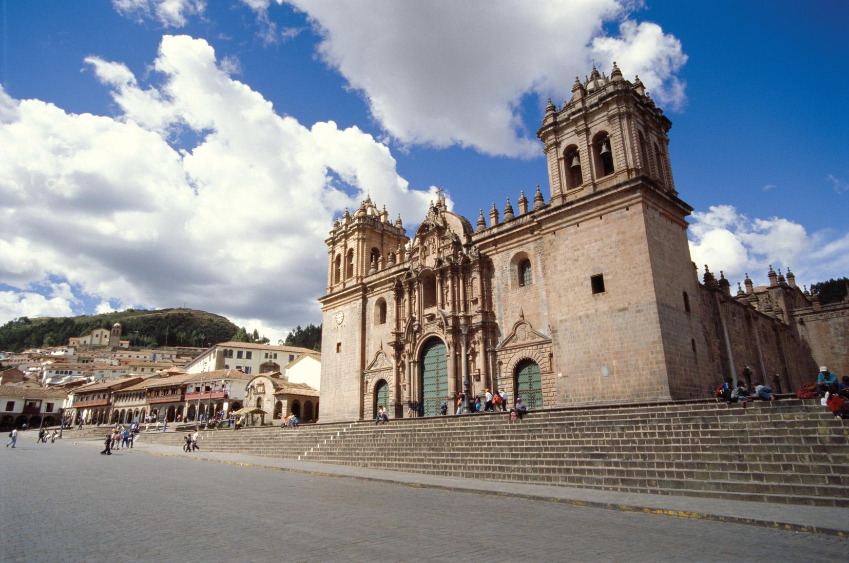 Outside View of Church in Cusco Peru