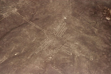 View of Nazca Lines from a plane